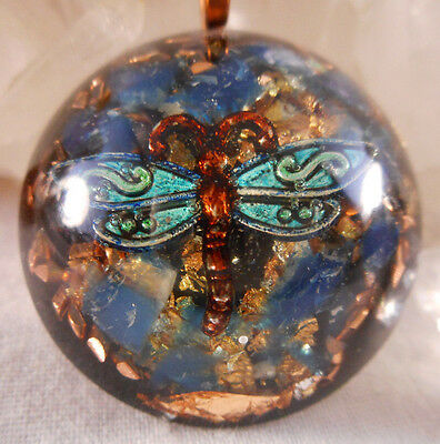 Orgone Pendant Experience Powerful Crystal Healing - Handpainted Dragonfly
