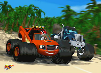 Unofficial BLAZE AND THE MONSTER MACHINES (5) *A3* print Poster - Peppa