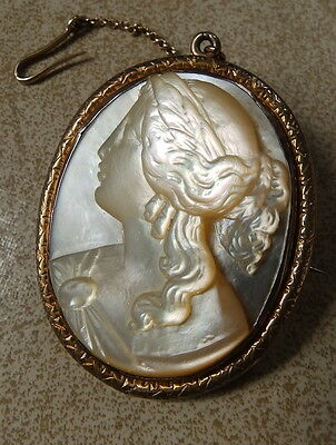 LARGE Antique carved Mother of Pearl CAMEO