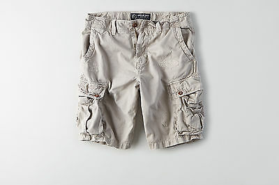 American Eagle Mens Destroyed Cargo Shorts - Gray - Sizes 38-44 - NWT