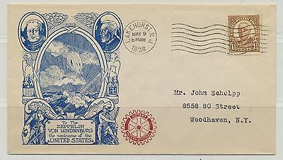 USA Sc. 684 Warren Harding on 1936 Zeppelin Addressed Cover with Rotary Cachet