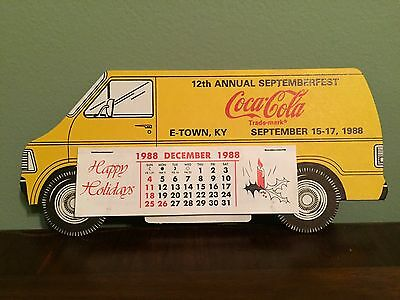 Coca-Cola Van - Elizabethtown Kentucky 12th Annual Septemberfest Calendar 1988