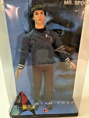 Mattel Star Trek Mr. Spock vinyl Ken Doll