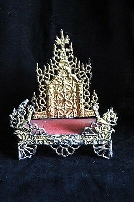 Antique wooden Burmese throne gilt with gold leaf Buddha Statues 3
