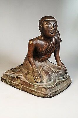 19th Century Antique Bronze  Buddha Monk Statues from Burma