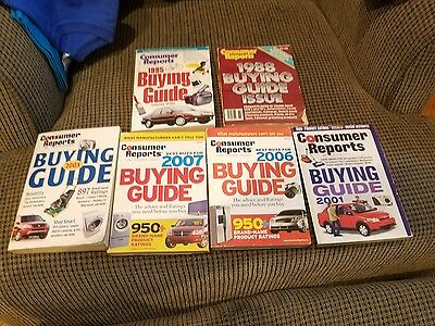 Vintage Group o f 6 Consumer Reports Buying Guides 88, 95, 01, 03, 06, 07