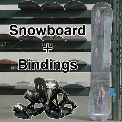 New Snowboard 163cm and Snowboard Bindings Complete Set Combo