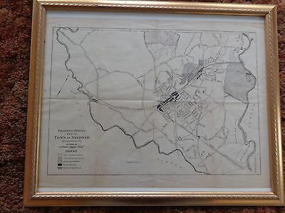1924 Zoning Map of Needham Mass. ~  w/ NY,NH & H Railroad