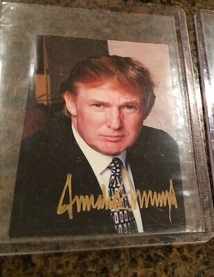Donald Trump Signed Autographed Photo President Of The United States White House