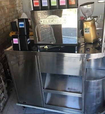 Coffee Cart Elektra Espresso Mazzer Gold Grinder Mobile Cafe Restaurant
