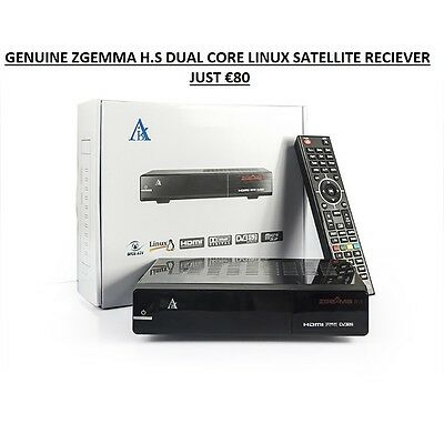Genuine Zgemma H.s Single Tuner Linux Satellite Reciever Enigma 2