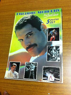 Queen Freddie Mercury Very Rare 1985 Mr Bad Guy Poster Book 5 Posters Nice