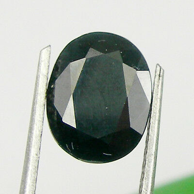 2.64 carat 9x7mm Oval Black Colour Natural Australian Sapphire Loose Gemstone