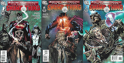 SWAMP THING Brightest Day Aftermath  #1-3  Aug to Oct 2011  All 3 Issues