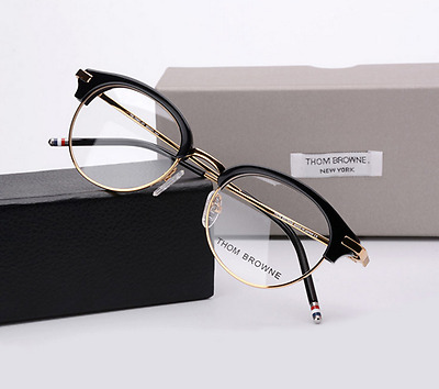 Thom Browne Tb706C Black And Navy Gold Eyeglasses Spectacles 50% Off