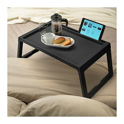 IKEA KLIPSK Breakfast Food Meal Serving Bed Tray Table in Black with iPad Holder