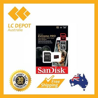 New Sandisk Extreme Pro Micro SDXC Micro SD 128GB 95mb/s  Express Shipping