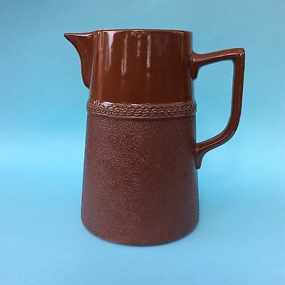 VINTAGE LANGLEY MILL POTTERY ENGLAND 1 QUART BROWN JUG Leadless Glaze VGC