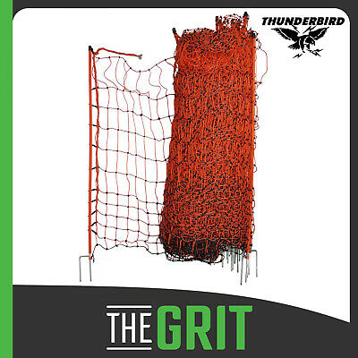 Thunderbird Poultry Netting 50m x 112cm Electric Fence Net