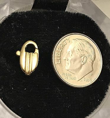 Vintage 14K Solid Yellow Gold Lobster Claw Clasp 11.50mm X 5.64mm ~ SUPERB!
