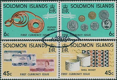 Solomon Islands 1977 SG349-352 Coins and Banknotes set FU