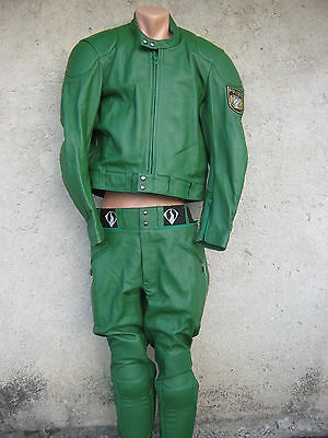 German Polizei Leather Uniform For Motorcyclists-New-1998 Year