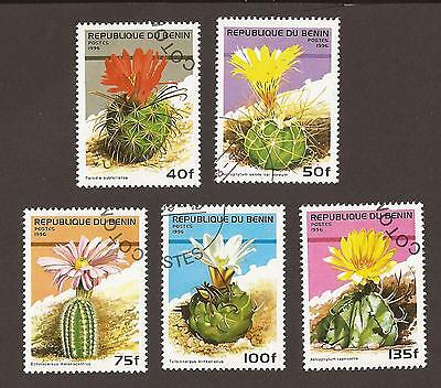 Benin 1996. Scott 871-876 (used). Flowering Cacti
