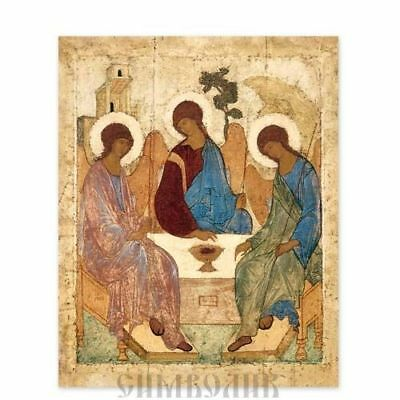 the Holy Trinity Icon by Andrei Rublev, Russian Orthodox Icon