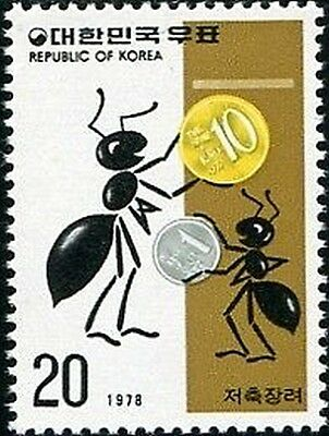 Korea South 1978 SG1315 20w Ants with Coins MLH