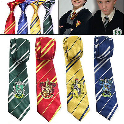 Uk Harry Potter Style House Badge Ties Fancy Dress Cosplay Film Replica Book Day