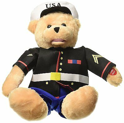 """Chantilly Lane 19"""" American Hero Marines Bear Sings """"From The Halls of"""