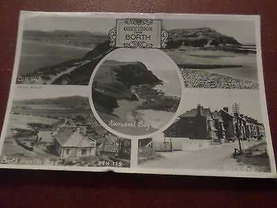 1953 Postcard Greetings From Borth (5 Views) Anglesey