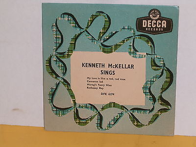 "Single 7"" - Kenneth Mckellar - Sings - My Love Is Like A Red Red Rose - Ep"