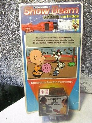 View Master SHOW BEAM CARTRIDGE -CHARLIE BROWN: LIFE IS A CIRCUS - SEALED NOS