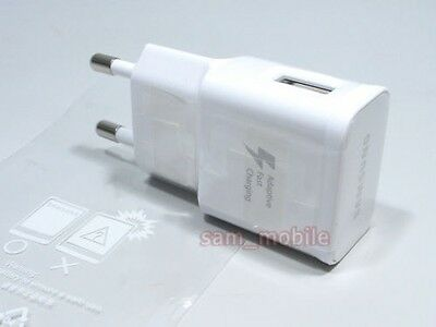Genuine Samsung Galaxy EU 2 pin Fast Travel Charger AC Plug White - EP-TA20EWE-