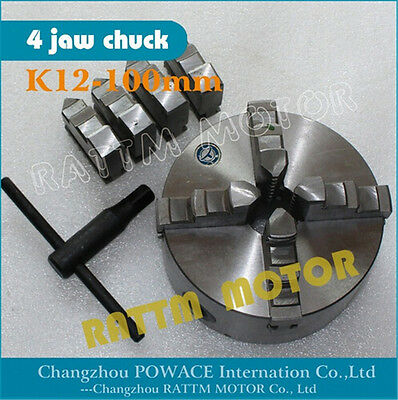 4 Jaw Chuck K12-100mm Lathe Tool Self Centering for CNC Router Engraving Machine