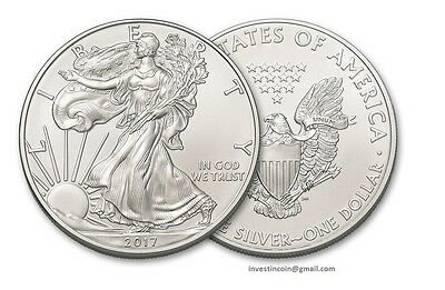 2017 American Silver Eagle Dollar Coin 1 Troy Ounce 999 Silver Bullion,Coin