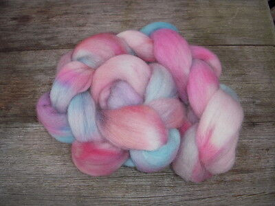 Merino tops roving hand dyed 100gm
