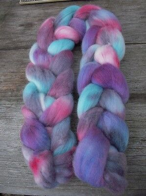 Merino tops roving hand dyed 115gm
