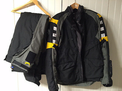 Bmw Rallye 3 Black/Yellow Motorrad Motorcycle (Touring) Off Road Suit,All Size