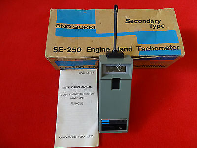 Engine Tachometer Wireless for 1-12 Cylinder Engines Ono Sokki SE-250 RPM meter