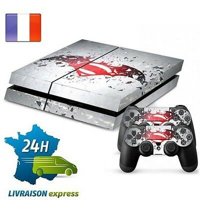Stickers PS4 Batman vs Superman - Console + 2 manettes - Skins Autocollant decal