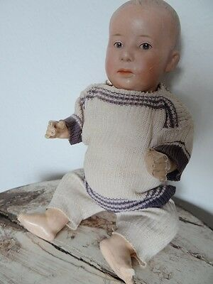 Antike Porzellankopfpuppe Heubach Puppenjunge Antique German Doll Germany  6894