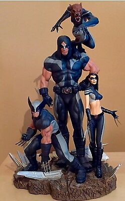Sideshow Marvel X-Men X-Force Wolverine Exclusive Diorama Statue Figure Bust Mib