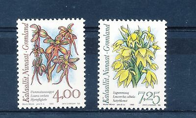 Greenland 1995 Arctic Orchids (1st series) set of 2
