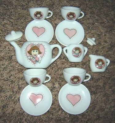D.W. From Arthur (Marc Brown) 13 Pc Miniature China TEA SET Complete Exc Cond