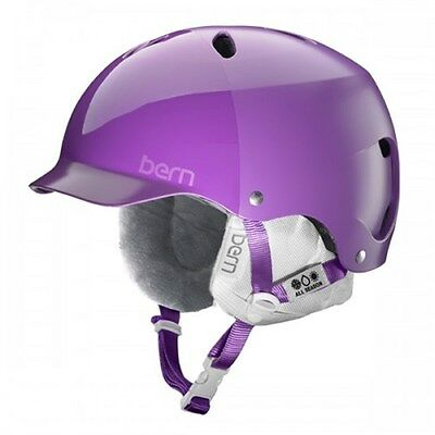 Bern Lenox Snow Helmet - Satin Purple