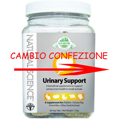 Oxbow Urinary Support Natural Science 60 pst 120 g per il benessere dell'apparat