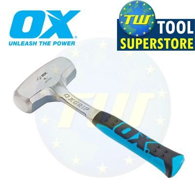 OX Tools 4lb Club Lump Hammer Hardened Steel Face 1-Piece Solid Forged P082704