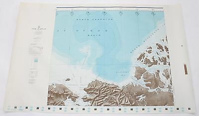 The World North Canadian Basin 1961 Vintage Original US Navy Hydrographic Map